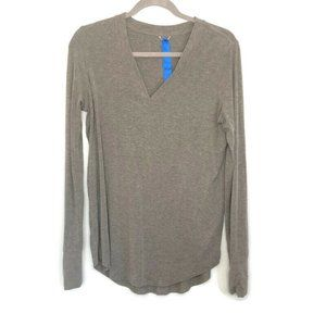 Kit and Ace Gray Cashmere Blend Long Sleeve Tee